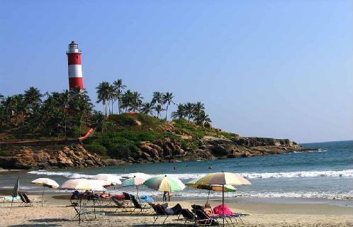 Kovalam Beach one the main attractions of God's own country, Kerala