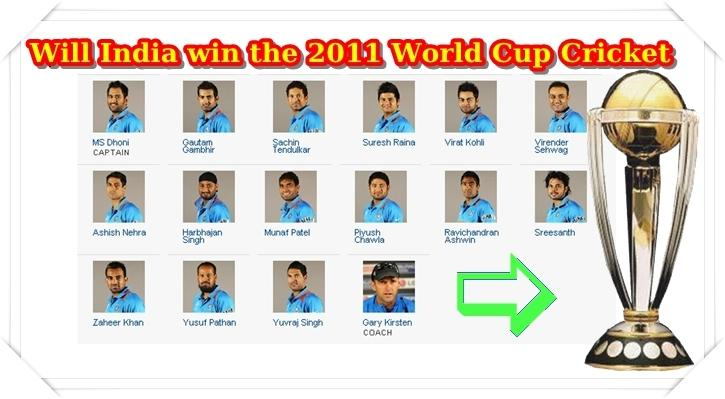 World Cup 2011 Indian Team