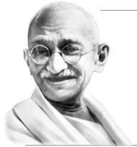 Gandhiji after death
