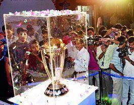 ICC World Cup Trophy at Kochi