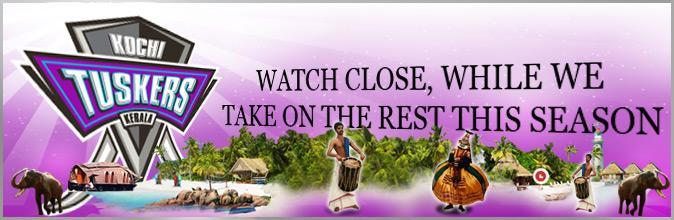 Kochi Tuskers Kerala(KTK) : Kochi Tuskers Kerala (KTK)Tickets Online booking