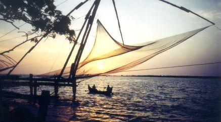 Backwaters in Fort Kochi