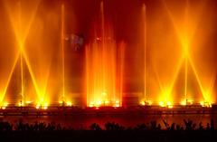 Laser show at Vismaya water theme park