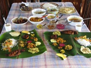 Food served on the houseboats