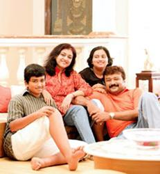 Jayaram and family
