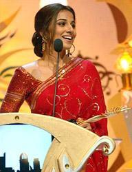 Vidya Balan at an award function