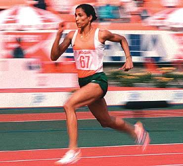 P.T Usha running