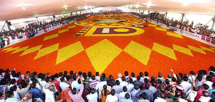 Largest pookalam in the world