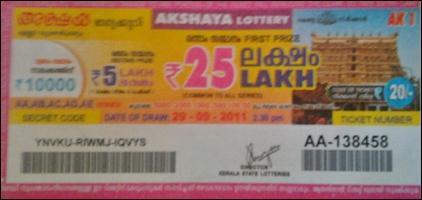 Kerala State Lottery Akshaya