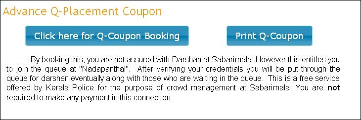 Sabarimala online queue booking