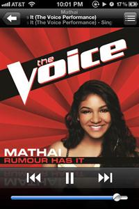 Sharon Mathai sparks in 'the voice' with 'rumor has it