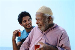 Thilakan and Dulquer in usthad hotel