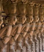 Horse carvings on wood at Kuthiramalika Palace