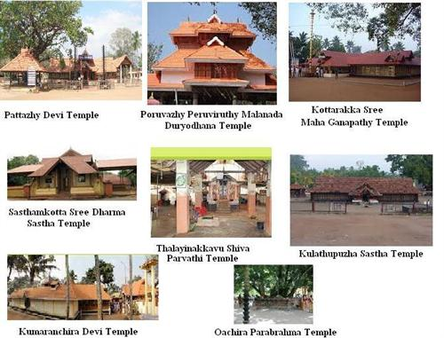 Famous temples in Kollam district