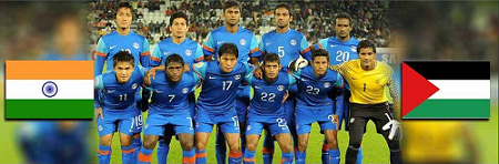 Watch India-Palestine football match live