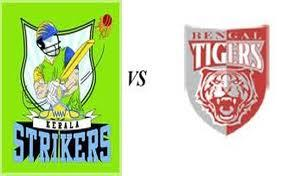 Watch Kerala strikers vs Bengal tigers match live streaming online