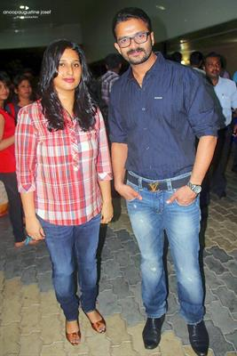 Jeena Riju with Jayasurya