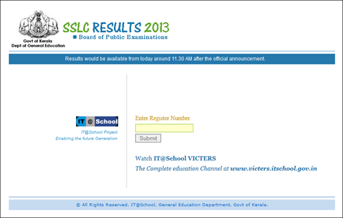 Kerala state board 10th (SSLC) exam school wise results on official websites