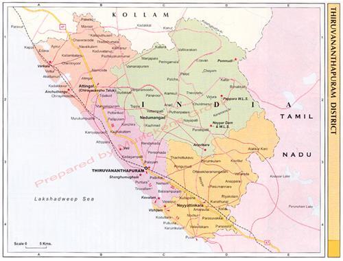 Trivandrum Map