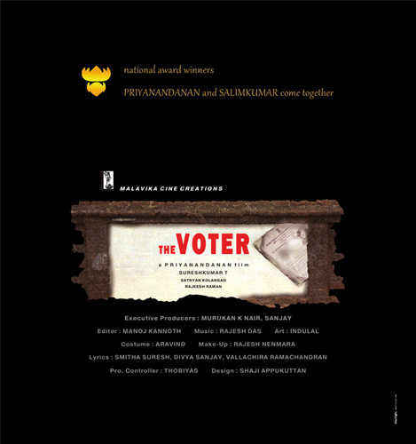 Priyanandanans next The Voter, starring Salim Kumar