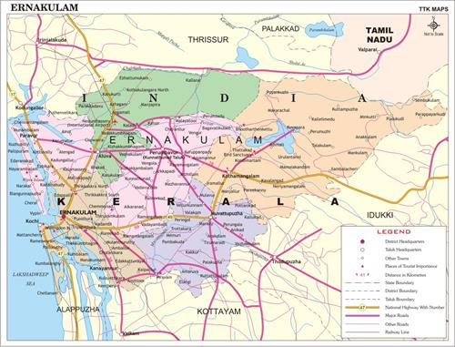 Ernakulam map - Explore