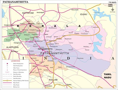 Pathanamthitta District map