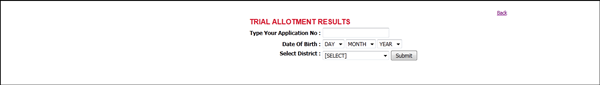 Kerala plus one trial allotment list/results 2013 to be published on 10th June