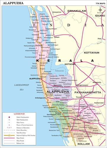 Alappuzha district map
