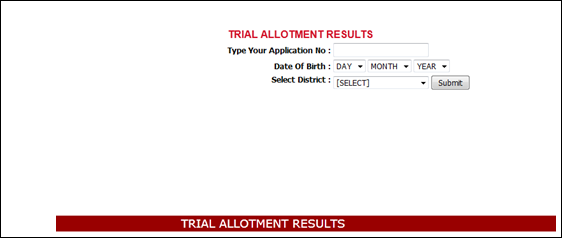 Kerala plus one trial allotment list/results 2013 published