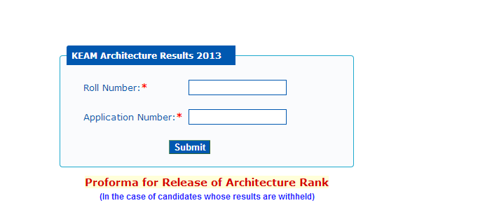 KEAM 2013 Architecture (B.Arch) Rank List Published on 19th June