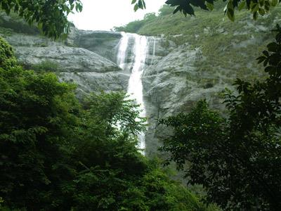 Palaruvi waterfall in Kollam