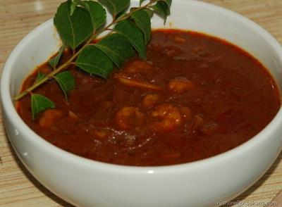 Chemmeen Theeyal Recipe