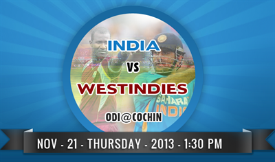 India vs West Indies ODI cricker match