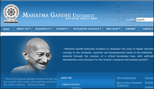 Mahatma Gandhi (M G) University Admission 2014 – 15: Know the procedures