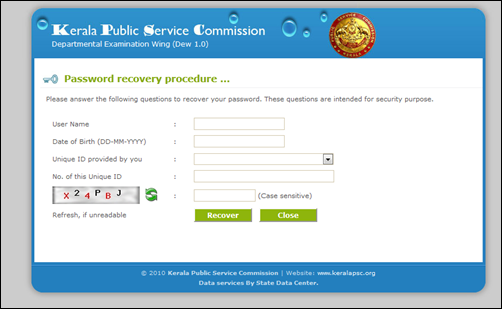 Forgot Password and User ID – Kerala Public Service Commission Recovery Tips 1