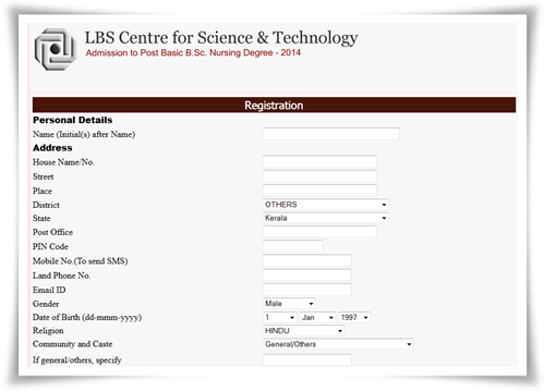 LBS Centre post basic BSc Nursing admission 2014: Apply before 26th June