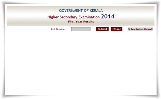 Kerala HSE Plus One Results 2014 School Wise