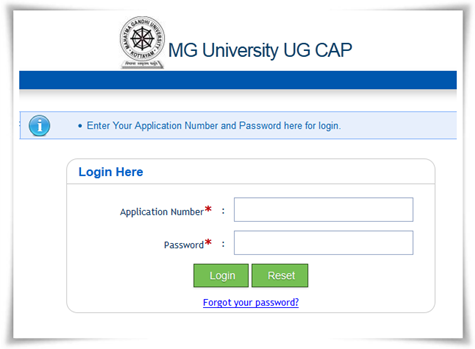 M G University degree 2014 first allotment result today