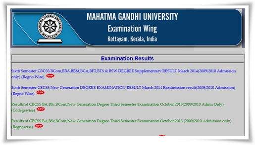 M G University B.Com final year exam 2014 result published