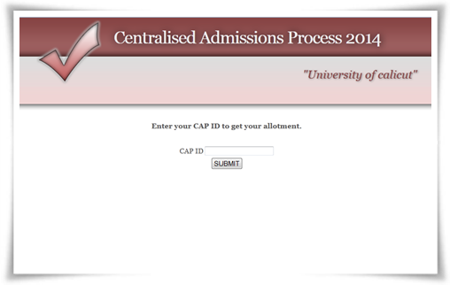 Calicut University Degree 2014 Trial Allotment Published