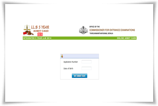 Kerala LLB entrance exam 2014 admit card now at CEE website