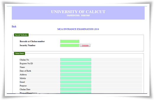 Calicut University MCA admission 2014: Online registration started