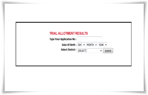 Kerala plus one trial allotment list 2014 on 24th June