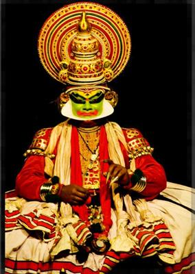 Kathakali - a popular art form of Kerala.