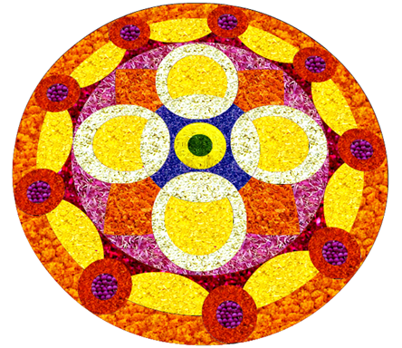 Best Onam 2014 Pookalam Designs for Competitions