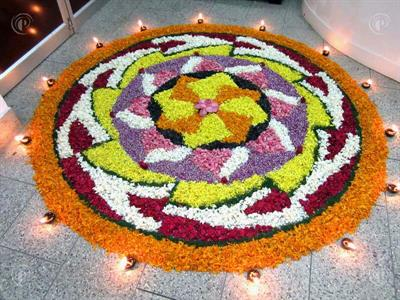 Best Onam pookalam design for competitions 2014