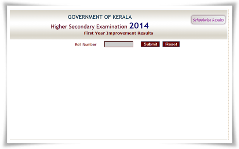 Kerala Plus One 2014 Revaluation Results Published Today