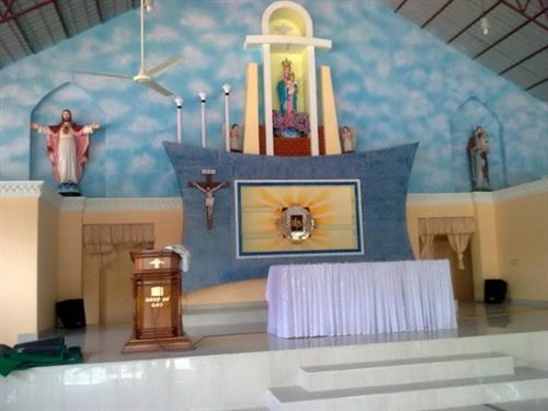 Interior of Vettukad Church