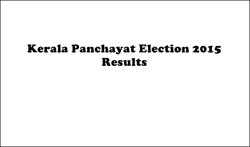 Kerala Panchayat Election 2015 Live Results and Statistics On Websites