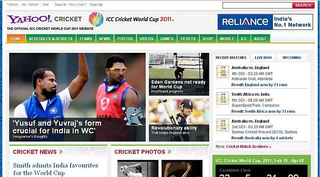 official cricket website